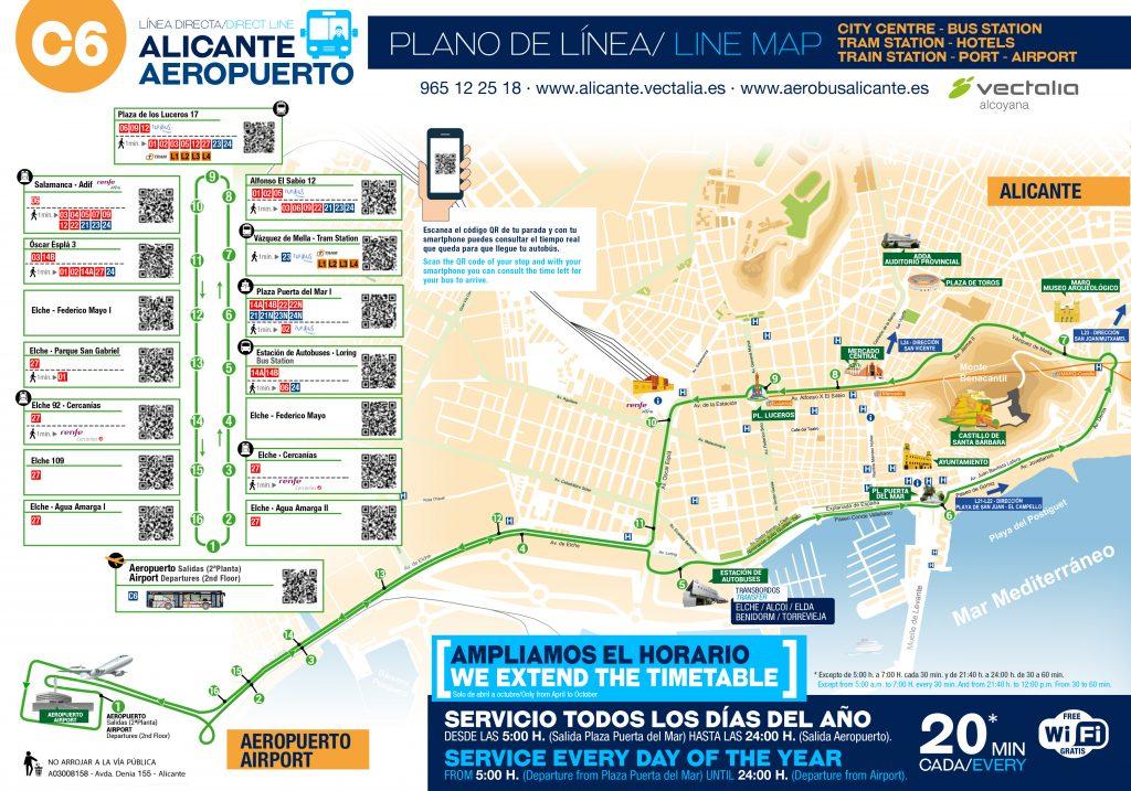 Jak dojechać z lotniska do Alicante autobusem linii C6