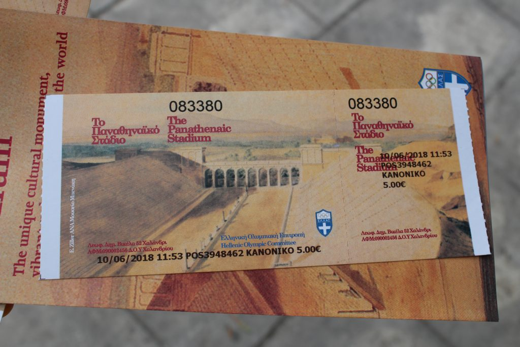 Bilet wstępu na Stadion Panatenajski