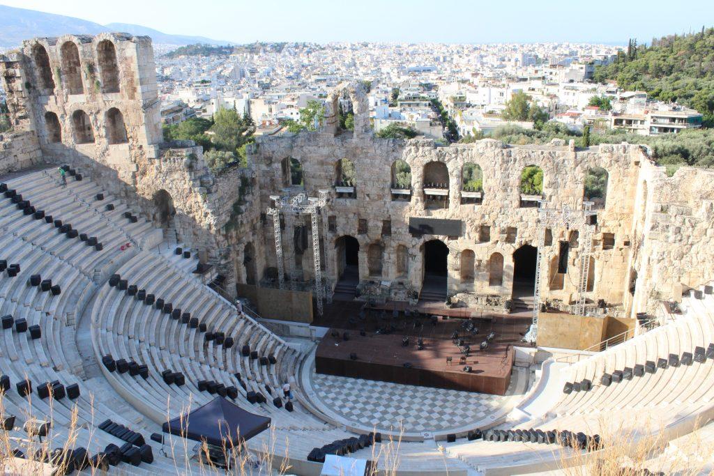 Ateny atrakcje Odeon Heroda Attyka